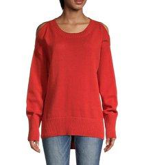 cotton-blendpullover knit sweater