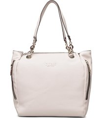 g chain tote bags top handle bags crème guess