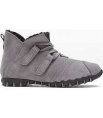scarponcini caldi in pelle (grigio) - bpc selection