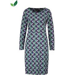 zilch jurk pockets birds purple