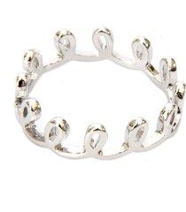 anel lovelee acessórios delicado voltinhas ii prateado