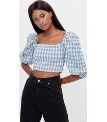 blouse met vierkante halslijn en cocoonmouw