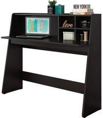 mesa para computador notebook escrivaninha idã©ia preto - colibri - preto - dafiti