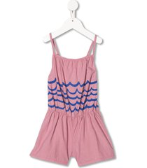 bobo choses waves woven playsuit - pink