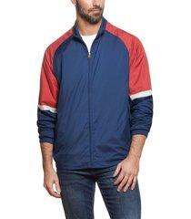 weatherproof vintage men's full zip color block jacket