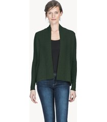 lilla p cotton cashmere high low cardigan
