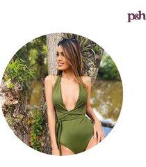 vestido de baño enterizo olive mar verde swimwear