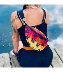 nerka / torebka mili belt bag l - liście reggae