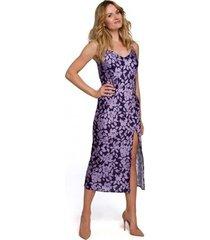 lange jurk makover k085 spaghettiband midi-jurk - model 3