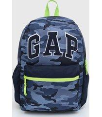 mochila gap camuflada azul-marinho/verde - azul marinho - menino - dafiti