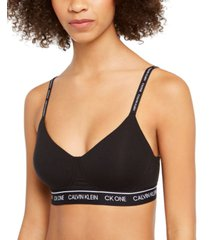 calvin klein ck one cotton wirefree bralette qf6094