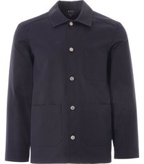 a.p.c. finistere chore jacket   dark navy   h02590-iak