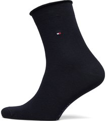 th women 98% cotton sock 1p lingerie socks regular socks svart tommy hilfiger