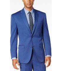sean john men's classic-fit new blue suit separate jacket