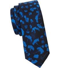 printed silk slim tie