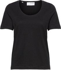 slfstandard ss u-neck tee noos t-shirts & tops short-sleeved svart selected femme