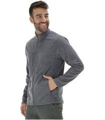 jaqueta de frio fleece nord outdoor basic new - masculina - cinza esc mescla