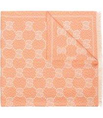 gucci gg logo-jacquard scarf - pink