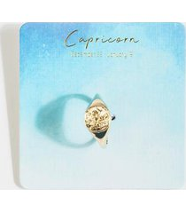 capricorn casted coin ring - gold