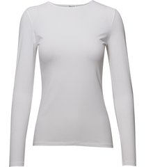 cotton stretch long sleeve t-shirts & tops long-sleeved wit filippa k