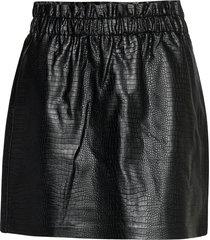 onlcoco faux leather skirt otw kort kjol svart only