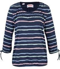 tunica in maglina di cotone fantasia (blu) - john baner jeanswear