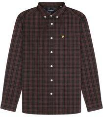 overhemd lange mouw lyle scott chemise a carreaux manches longues