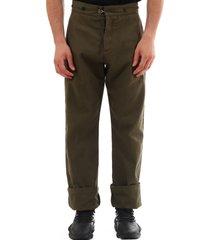 loewe trousers military green