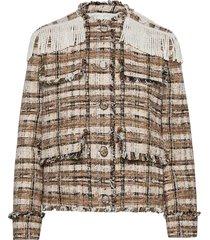 giacca/jacket blazers bouclé blazers beige msgm