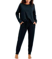 alfani french terry pajama set, created for macy's