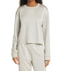women's rta denim myles sweatshirt, size large - beige