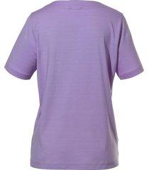 shirt met ronde hals van peter hahn paars