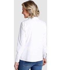 2 blusar dress in marinblå::vit