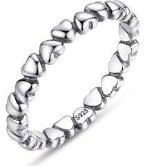 anillo bamoer corazon plata esterlina 925 pa7108