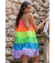 pitusa popsicle halter mini dress rainbow