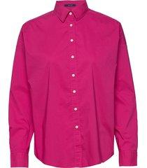 d1. tp bc over d solid shirt overhemd met lange mouwen roze gant