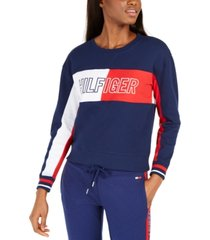 tommy hilfiger colorblocked french terry sweatshirt