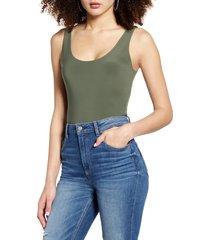 women's leith sleeveless bodysuit, size x-large - green