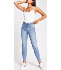 river island womens cream sleeveless buckle strap bodysuit