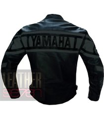 yamaha 0120 grey leather motorcycle motorbike pure cowhide  jacket coat
