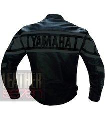 yamaha 0120 grey leather motorcycle motorbike pure cowhide  jacket coat