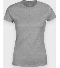 damska koszulka (bez nadruku, gładka) - szara (melanż)