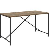 mesa de jantar vermont/preto fosco artesano mã³veis - preto - dafiti