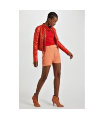 shorts de crepe sarouel fivela laranja califórnia - 38