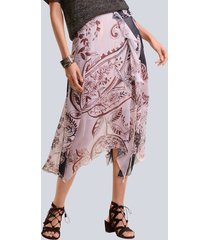 kjol alba moda brun::hasselnötsbrun