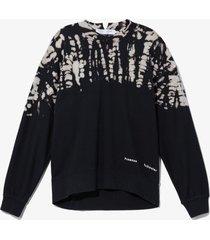 proenza schouler white label dotted tie dye sweatshirt /black xs