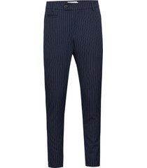 como light pinstripe suit pants kostymbyxor formella byxor blå les deux