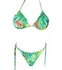 biquíni ripple garota de luxo beachwear folhagem 2018 verde