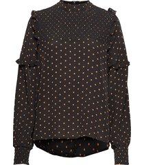 musette blouse blouse lange mouwen bruin just female