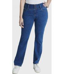 jeans recto 3 botones celeste curvi